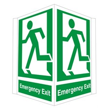 Projecting Emergency Exit Sign 300mm Wide x 400mm High
