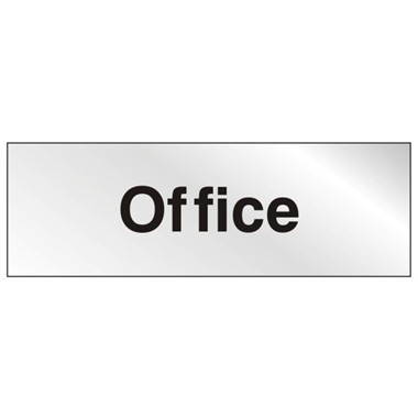 Office - Stainless Steel Effect 300mm x 100mm