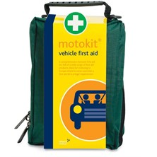 Vehicle First Aid Kit in Green Stockholm Bag